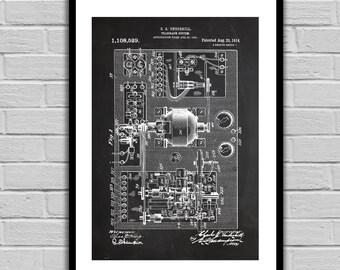 Telegraph System Patent, Telegraph System Poster, Telegraph System Blueprint,  Telegraph System Print, Telegraph System Art, Telegraph Decor