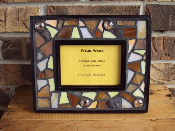 stained glass mosaic picture frame. Black Bedroom Furniture Sets. Home Design Ideas