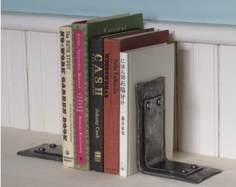 Hand Forged Bookend Set / Iron Book Ends / Steel Office Gifts / Metal Library Accessory / Graduation Gift / Acedemia