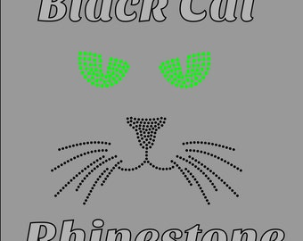 Cat Face Rhinestone design fcm svg png CUT files, ScanNCut, Cricut, Silhouette Studio v3