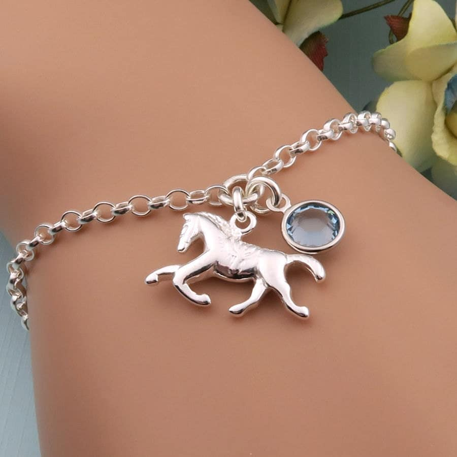 bracelet jewelry equestrian by crystalsongjewels