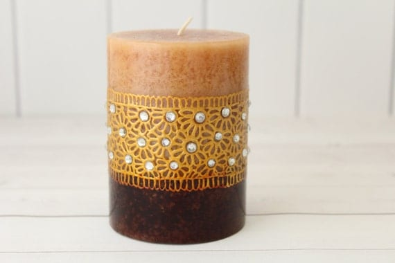 Mehndi Henna Candles : Henna candles design mehndi decor candle art