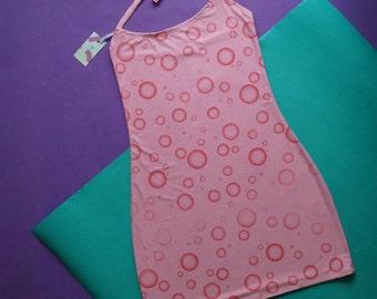 90's Pink soda mini dress
