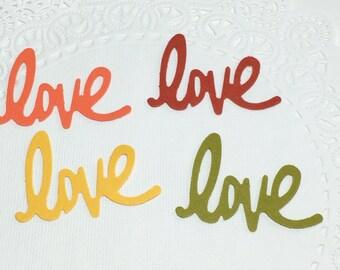 Fall colors Love confetti, Autumn color confetti, Fall wedding confetti, Love table confetti, Earth tone  confetti, Bridal shower confetti