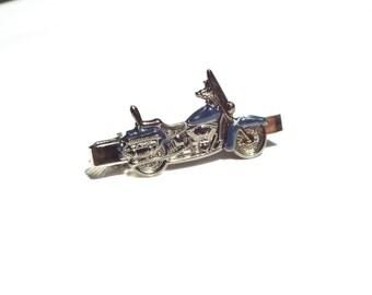American Motorcycle Tie Clip (Navy Blue)