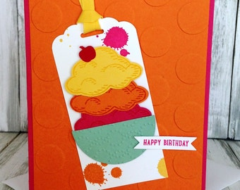 Stampin Up Handmade Greeting Card, Birthday Card