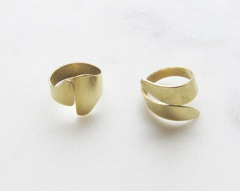SHAPES ring - brass