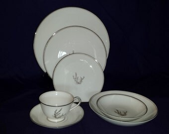 54 Piece Noritake Candice Eight Piece Place Setting (8) 1950s-60s Made in Japan