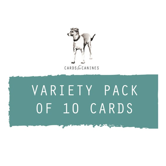 Variety Pack Of 10 Greeting Cards