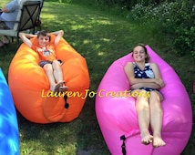 Inflatable Air Lounger, Outdoor Hangout, Couch, Chair, Hammock, Camping, Sleeping Bag, Hiking Bed, Travel Bed