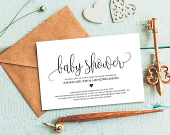 Unique baby shower invitation related items Etsy