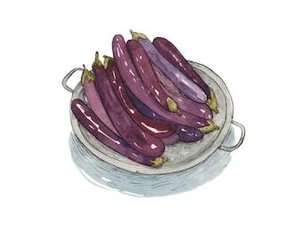 "Eggplants 8x10"" Giclee Print"