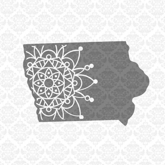 BUNDLE Iowa State Mandala Paisley Henna Zentangle Filigree SVG DXF Ai Eps Png Vector Instant Download Commercial Cut File Cricut Silhouette