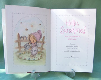 Hello Sunshine Illustrated by Betsey Clark | Vintage Hallmark Hardcover Book 1970s | Proverbs Selected by Barabara Kunz Loots | Retro