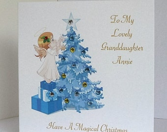 Personalised Christmas Card for Granddaughter/Daughter/Niece etc