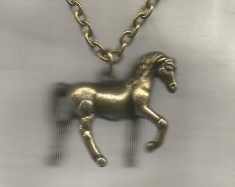 Pendant Brass Horse
