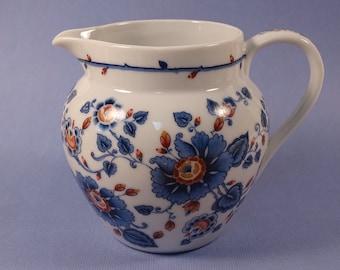 Estee Lauder Porcelain Creamer/Pitcher 1979 Blue Floral Pattern