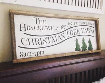Christmas Tree Farm - Christmas Tree Sign - Christmas Sign - Christmas Tree Farm Sign - Personalized Christmas Tree Sign - Christmas Decor