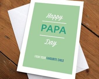Happy Papa Day Card