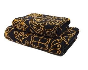 FREE SHIPPING Gift for boyfriend Gift for him Set of 2 Premium Bath Towels Sugar Skull Decor Calavera Sweet Skulls Mexican Culture