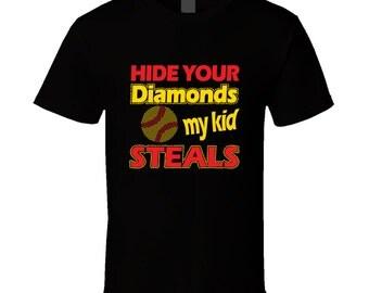 Hide Your Diamonds - Softball Mom T-shirt