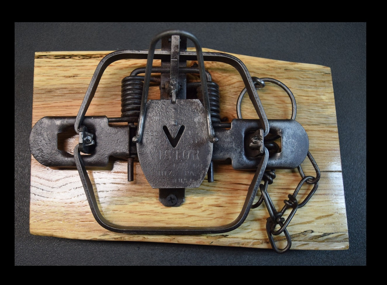Repurposed Vintage No. 2 Victor Spring Coil Trap Business Card ...