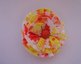 Rag Rose Fabric Rosette Hair Elastic
