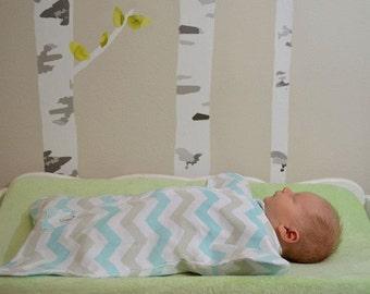 Enclosed Zip-Up Cozy Baby Sleeper: Spunky Chevron