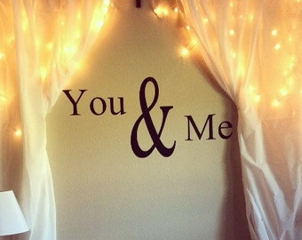 "Vinyl "" You & Me"" Wall Art"