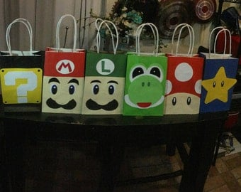 Mario Brother's party favors