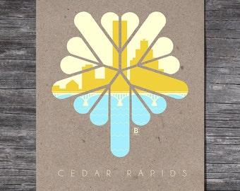 Cedar Rapids Seasons Screen Printed Poster