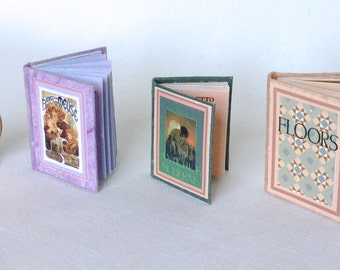 Illustrated miniature books ,hardcover,openable, 1/12 scale