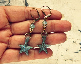 Star Fish Earrings, Star Fish Jewelry, Starfish Earrings, Starfish Earings, Starfish Gift, Starfish Jewelry, Seastar Gifts, Gifts Under 20