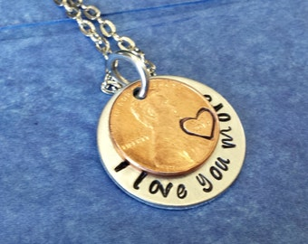 Long distance relationship boyfriend, Long distance boyfriend gift, I love you more necklace, Couples gift for couples necklace