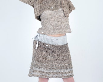 skirt natural made in France