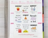 Kawaii Lazy Girl Fitness Stickers