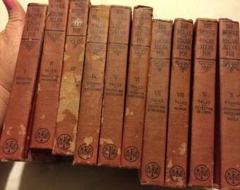 1904 The works of Edgar Allen Poe- Set of 10