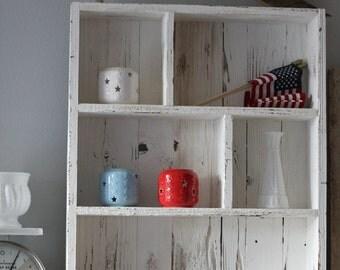 Reclaimed Wood Shelves, Cubby Shelf, Pallet Shelf, Rustic Shelves, Bathroom Organization, Entryway Shelf,Bathroom Shelf,Cottage Chic