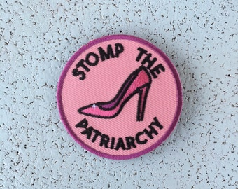 Stomp the Patriarchy Iron On Patch
