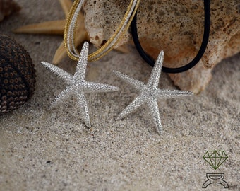 Starfish Pendant, Sterling Silver Pendant, Ocean Jewelry, Starfish Necklace,  Gift for her, Hand Made