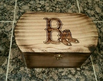Boston Red Sox Personalized Chest - Keepsake Chest - Piggy Bank