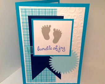 bundle of joy expecting baby shower card