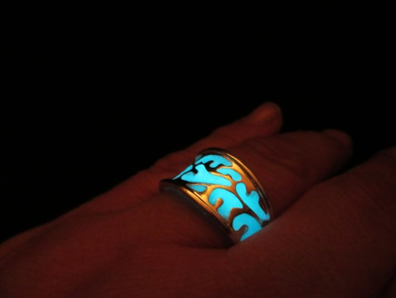 Glow in the dark ring for Glow in the dark wedding rings
