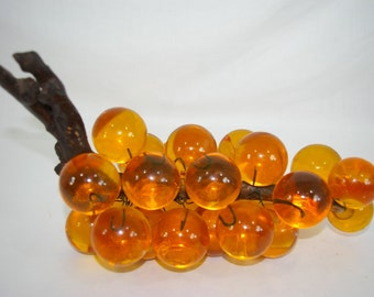 Amber Grape Cluster Plastic Resin