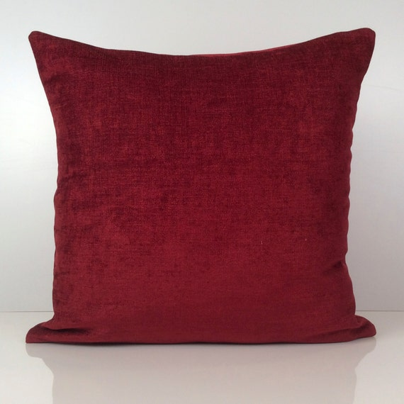 Bright Burgundy Pillow Throw Pillow Cover Decorative Pillow