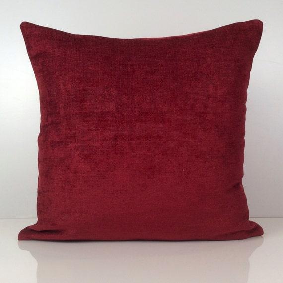 Burgundy Color Decorative Pillows : Bright Burgundy Pillow Throw Pillow Cover Decorative Pillow