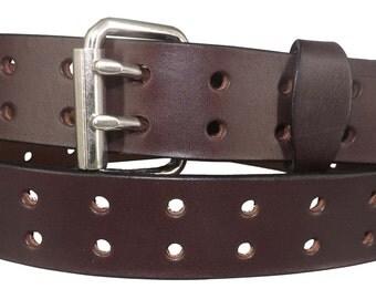English Bridle Double Prong Belt
