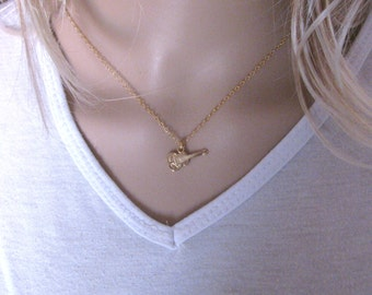 Guitar necklace, gold guitar necklace, electric guitar necklace, music necklace, music jewelry, guitar charm necklace