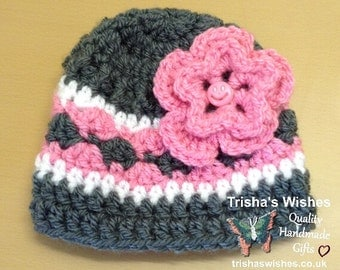 Flower Beanie >> Winter Hat >> Babies >> Baby Shower Gift >> Fashionable