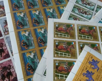 stamps, horses , crafting, scrapbook or collecting